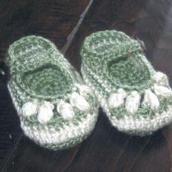 Crochet Baby Sandals Booties Shoes Newborn to 6 months